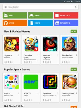 How to download apps and games on my Samsung Galaxy Tab S2
