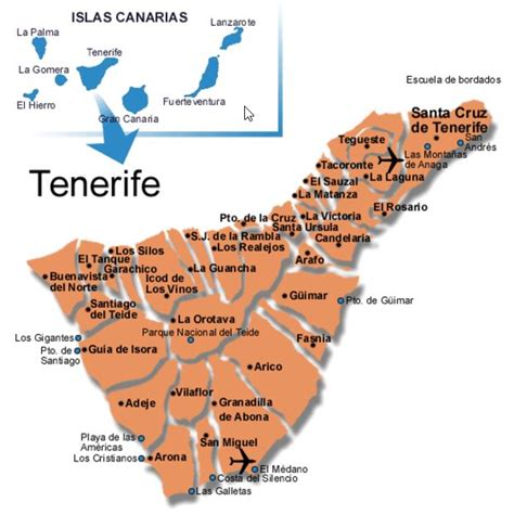 Tenerife map | Tenerife south map | Detailed map of
