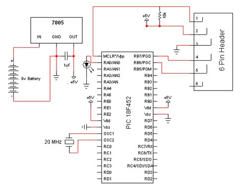 PICKit3 Programming With MPLABX - Schematic   PyroElectro