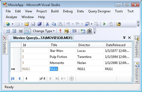 Create a Movie Database Application in 15 Minutes with ASP